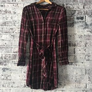 Banana republic flannel dress